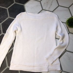 Premise thick winter white knit sweater medium